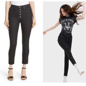 AO.LA By Alice + Olivia Black High Rise Jeans 24
